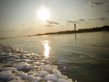 Sunset behind the Sullivan's Island Lighthouse